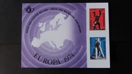 Europa: Feuillet De Luxe Année 1974 Numéro LX62 - Luxevelletjes