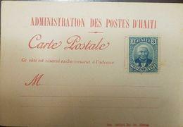 L) 1888 HAITI, GENERAL LOUIS ETIENNE FELICITE SALOMON, SCOTT A5, 3C BLUE, POSTAL STATIONARY - Haiti