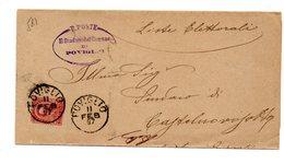 MK581 - REGNO , Da  Poviglio  11/2/1897 - 1878-00 Umberto I