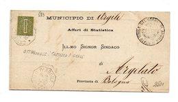 MK583 - REGNO , Ottogonale Castello D'argile 3/2/1885 - 1878-00 Umberto I