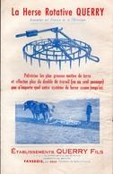 La Herse Rotative Querry - Dépliant Publicitaire - 1950 - Supplies And Equipment