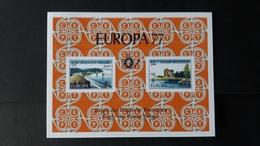 Europa: Feuillet De Luxe Année 1977 Numéro LX66 - Feuillets De Luxe