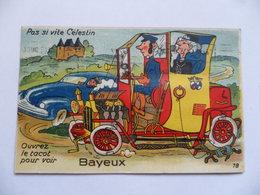 """(Calvados - 14 - Carte à Système, Petit Dépliant 10 Vues) - Ouvrez Le Tacot Pour Voir...BAYEUX  - """"Pas Si Vite Célestin"""" - Bayeux"""