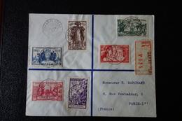 SENEGAL Lettre Affranchie Avec Série De 1937 - Sénégal (1887-1944)