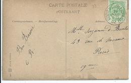 Fantasiekaart  Met OCB 83 - Afstempeling GAND(R.DE L'ECOLE NORMALE) - COBA 4 - 1893-1907 Wapenschild