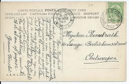 Fantasiekaart  Met OCB 83 - Afstempeling GAND(FAUB.DE COURTRAI) - COBA 4 - 1893-1907 Wapenschild