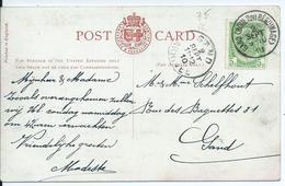Fantasiekaart  Met OCB 83 - Afstempeling GAND(BOUL D DU BEGUINAGE) - COBA 2 - 1893-1907 Wapenschild