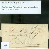 BRIEFOMSLAG Uit 1844 Gelopen Van WINSCHOTEN Naar AMSTERDAM   (10.986) - Niederlande