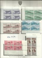 1975 Isola Di Man DECIMALE FRANCOBOLLI USO FISCALE, REVENUE 4 Serie Di 6v. Sovrastampati (14/19) In Quartina MNH** Bl.4 - Isola Di Man