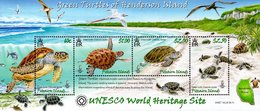 Pitcairn - 2008 - Green Turtles Of Henderson Island - UNESCO Heritage Site - Mint Souvenir Sheet - Pitcairn