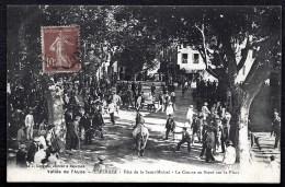 CPA ANCIENNE FRANCE- ESPÉRAZA (11)- FETE DE LA ST-MICHEL- COURSE AU BOEUF- TRES BELLE ANIMATION GROS PLAN - Frankreich