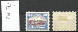 LETTLAND Latvia 1939 Michel 276 * Perf 10 Inverted Vertical WM !! - Latvia