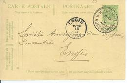 Postkaart  Met Type  OCB 83 - Afstempeling WAREMME Type 4R - COBA 4 - 1893-1907 Wapenschild