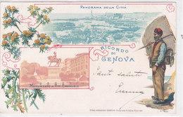 CARD GENOVA RICORDO DI .... VEDUTINE PESCATORE FIORI DI CARDO  -FP-V-2-0882- 28122 - Genova (Genoa)