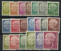Allemagne Federale (1953) N 62A A 72B (Luxe) Sauf N 71B (Charniere) - [7] République Fédérale