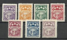 Latvia Lettland 1923 = 7 Werte Aus Michel 89 - 99 * - Lettland