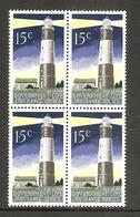 001726 New Zealand 1976 Life Insurance 15c Perf 14 Block Of 4 MNH - Blokken & Velletjes