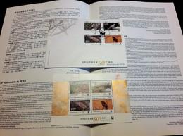 MACAU / MACAO (CHINA) - 50th Anniversary Of WWF (birds) - 2011 - Souvenir Sheet (MNH) + FDC + Leaflet - Lots & Serien