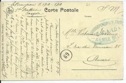 Zichtkaart Ruïnes Van Nieuwpoort Verzonden In Portvrijdom - Stempel CORRESPONDANCE PRIVEE / CIDA 1DA / ARMEE BELGE - Oorlog 14-18