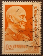 TAIWÁN 1956 The 70th Anniversary Of The Birth Of President Chiang Kai-shek, 1887-1975. USADO - USED. - 1945-... República De China