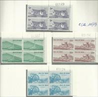 1975 Isola Di Man FRANCOBOLLI USO FISCALE, VEDUTE 4 Serie Di 4v. (10 - 13) MNH** In Quartina LANDSCAPES Bl.4 - Isola Di Man