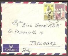 1964 Libia Libya STORIA POSTALE Busta Aerea TRIPOLI  BOLOGNA (Francobolli Yv.238/39 Emancipazione Donna) - Libia