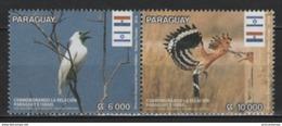 Paraguay (2016) - Set -   / Diplomatic Relations With Israel -  Bird - Oiseaux - Aves - Birds - Pajaros - Pájaros