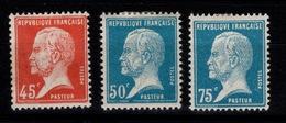Pasteur YV 175 / 176 / 177 N* Cote 12,10 Euros - France