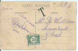 Prentkaart Met OCB 136 Afstempeling MOLL (verso) Naar GHEEL Met Tx 28 - Afstempeling GHEEL - Strafportzegels