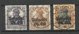 LATVIA LETTLAND German Occupation Ober-Ost 1918 Michel 6 - 7 & 9 O RIGA - Letland