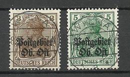 LITAUEN LITHUANIA German Occupation Ober-Ost 1918 Michel 2 - 3 O WILNA Vilnius - Lituanie