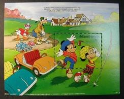 ANTIGUA BARBUDA 1991 HOJITA BLOQUE DE WALT DISNEY Y GOLF YVERT BLOCK Nº 212 -MICHEL BLOCK  211 SCOTT SS 1465 - Disney
