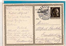 Ganzsache H. Mit Mütze - Sonderstempel Deutsche Wehrfreiheit Berlin 1939 - Germania