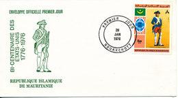 Mauritania FDC 28-1-1976 U.S. Bi-Centennial 1776 - 1976 With Cachet - Us Independence
