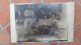 RARE CARTE PHOTO  - Canon Lance Bombe Pris Aux Boches Par La 30 Section AMC En Juillet 1921 à Wiegschutz (Hte Silésie) - Weltkrieg 1914-18