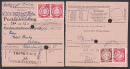 Potsdam-Babelsberg Postanweisung 1954, Frankiert Mit Dienstmarken, Seltene Verwendungsart De Verwaltungspost B - [6] Democratic Republic