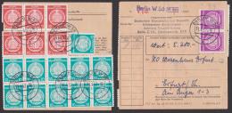Wertpaket BERLIN W56 Abs. Regierung Ministerium F. Finanzen, Seltener Verwendungsnachweis - DDR