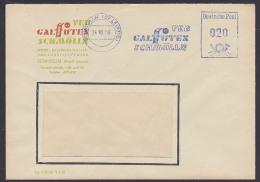 Schmölln Bz. Leipzig DDR Allemagne Germany  AFS VEB CALFUTEX Dienstpostbrief 1959 - Oficial