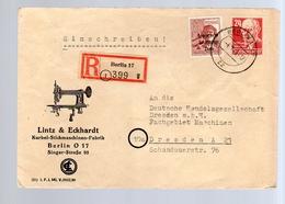 Lintz & Eckhardt Kurbel-Stickmaschinen-Fabrik Singer-Strasse!! 1946 (DDr154) - Zone Soviétique
