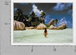 CARTOLINA NV DE AGOSTINI - SEYCHELLES - Il Golfo Reale - Vedute Dal Mondo - 10 X 15 - Seychelles