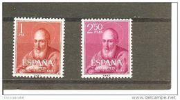 España/Spain-(MNH/**) - Edifil  1292-93 - Yvert  973-74 - 1951-60 Unused Stamps