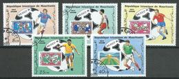 Mauritanie Poste Aérienne YT N°238/242 Coupe Du Monde De Football Mexico 1986 Oblitéré ° - Mauritania (1960-...)