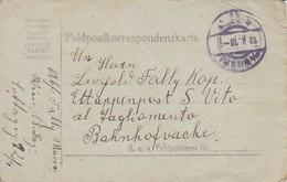 Feldpostkorrespondenzkarte Wien Nach Etappenpost S. Vito - 1918 (34563) - Cartas