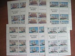 Tuvalu 1981 Ships Six Sheetlets MNH - Tuvalu