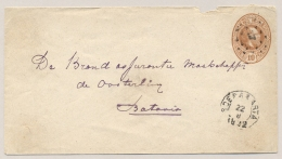 Nederlands Indië - 1892 - Kleinrond En Puntstempel SOERAKARTA Op Envelop G6 Naar Batavia - Nederlands-Indië