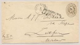 Nederlands Indië - 1892 - Kleinrond En Puntstempel BUITENZORG - Via Marseille - Op Envelop G8 Naar Zutphen / NL - Nederlands-Indië