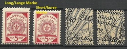 LETTLAND Latvia 1918 Michel 2 Incl Variety ERROR MNH - Latvia