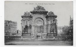 LILLE - N° 2074 - LA PORTE DE PARIS AVEC PERSONNAGES - CPA VOYAGEE - Lille