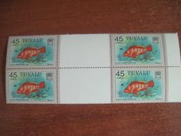 Tuvalu 1981 Fishes Rock Cod  Sea Fauna Block Of 4   MNH - Tuvalu