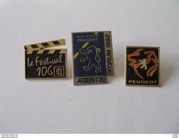 3 Pin's PEUGEOT - Peugeot